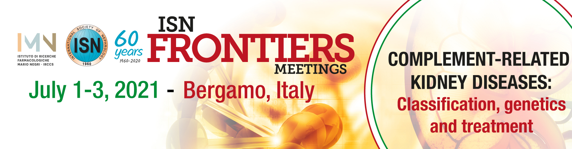 Join the ISN at Frontiers Meeting in Bergamo, Italy