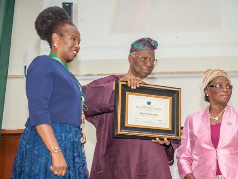 ISN Pioneer Award for the Africa region to Prof. Oladipo Olujimi Akinkugbe, Emeritus Professor of Medicine, University of Ibadan, Nigeria, in recognition of his outstanding achievements in the field of nephrology
