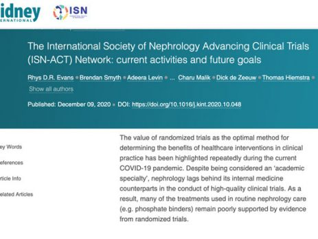 Kidney International Publishes ISN-ACT Paper