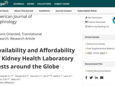 Joint ISN-KDIGO Paper Highlights Need for Access to Affordable Diagnostic Tools