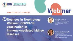 COVID vaccination webinar kidney disease